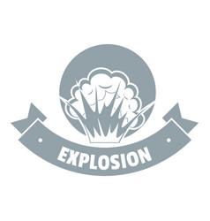 Frame explosion logo simple gray style vector