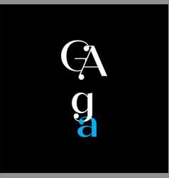 G a letter logo creative design on black color vector