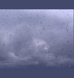 Gloomy weather cloudy sky water drops on vector