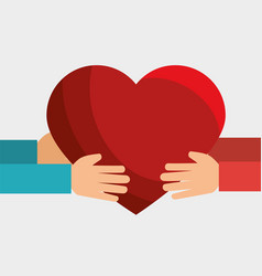 Heart gift love icon vector
