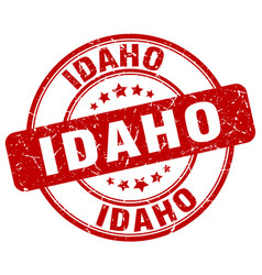 Idaho red grunge round vintage rubber stamp vector