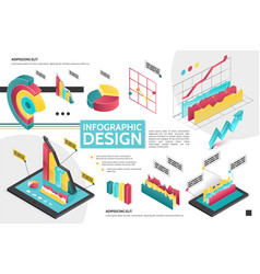 isometric modern infographic concept vector image
