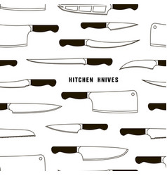 kitchen knife weapon steel pattern vector image