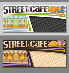 layouts for street cafe vector image
