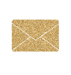 letter of mail icon with glitter effect isolated vector image