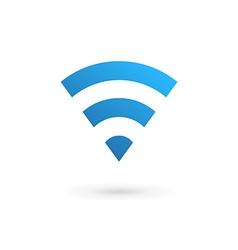 Letter V wireless logo icon design template vector image