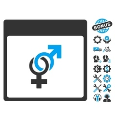 Marriage Calendar Page Icon With Bonus vector