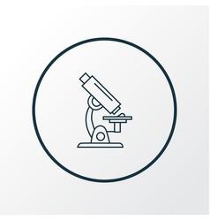 microscope icon line symbol premium quality vector image