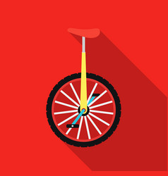 monocycle icon in flat style isolated on white vector image
