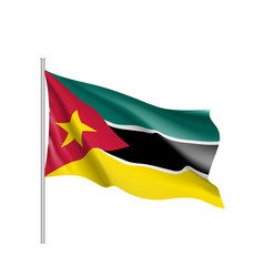 National flag of mozambique vector