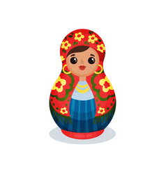 nesting doll russian wooden matryoshka vector image