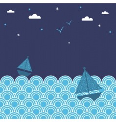 night boats vector image