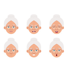 Old woman design isolated on white background vector