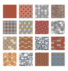 paving stone pattern brick paver walkway rock vector image