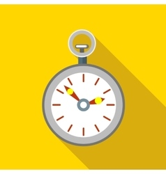 Pocket watch icon flat style vector image