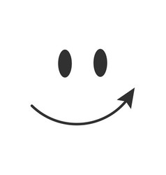 Pointing arrow smile icon isolated vector