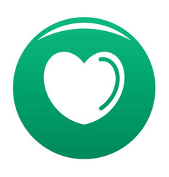 Poisoned heart icon green vector