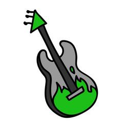 Punk rock guitar clipart vector