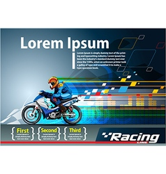 Racing poster template vector image