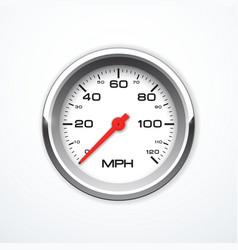 Realistic speedometer isolated vector