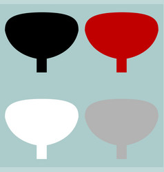 red black grey white urinary bladder icon vector image