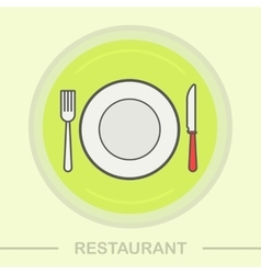Restaurant color icon vector image