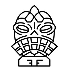Ritual idol icon outline style vector