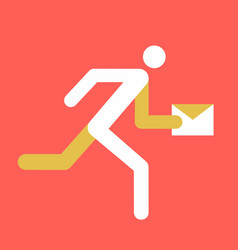 running man with mail vector image