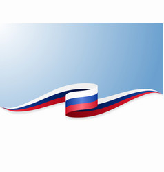 russian flag wavy abstract background vector image
