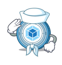 Sailor webpack coin character cartoon vector