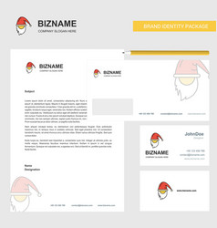 santa clause business letterhead envelope and vector image