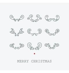 Santas deer horns vector image