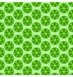 Seamless doodle lime pattern vector image