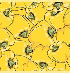 seamless pattern hand drawn capsicum vector image