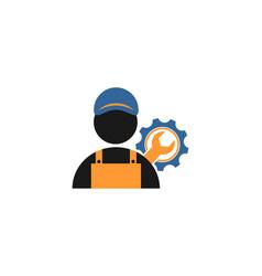 service repair logo symbol vector image