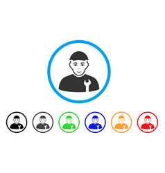 Serviceman rounded icon vector