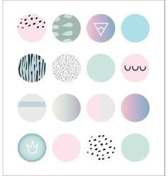 set colored circles vector image