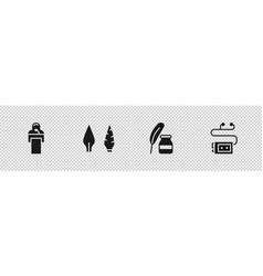 Set gives lecture stone age arrow head feather vector