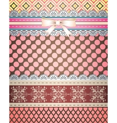 Set patterns and borders for scrapbooking all vector