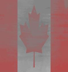 Shabby Flag of Canada vector image