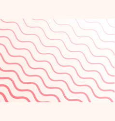 smooth pink wavy pattern background vector image