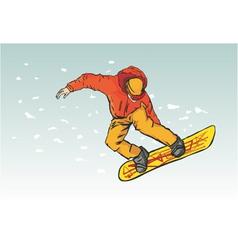 snowborder vector image