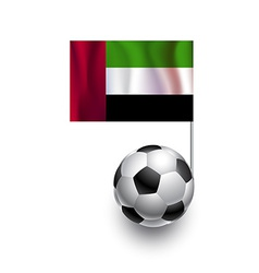 Soccer Balls with flag of United Arab Emirates vector