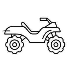 Terrain quad bike icon outline style vector