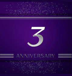 three years anniversary celebration design vector image