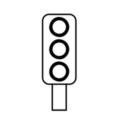 traffic light semaphore icon vector image