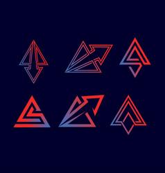 Triangle arrow logo vector
