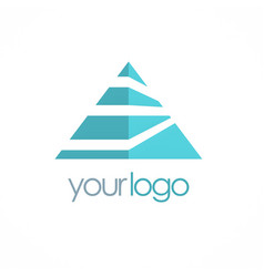 triangle colored business logo vector image