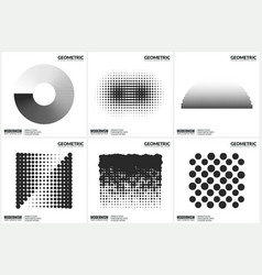 universal halftone geometric shapes for design vector image
