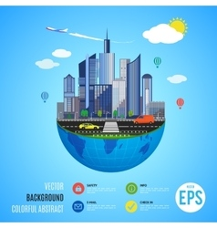 Urban earth concept vector image